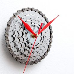 Unique Industrial Wall Clock made out of Recycled Bicycle Gears