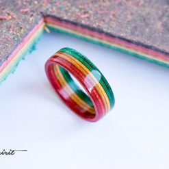 RRR - Recycled skateboard ring Rasta Ring