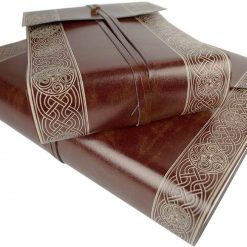 Personalised Olympia Celtic Brown Recycled Leather Photo Album