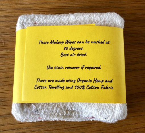 Hemp and Cotton Makeup Wipes instructions